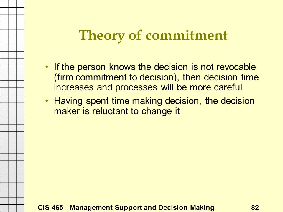 Theory of commitment