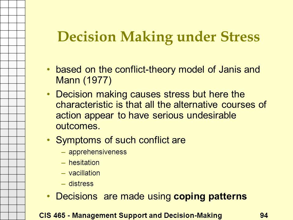 Decision Making under Stress