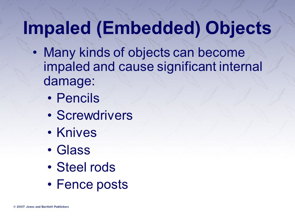 Impaled (Embedded) Objects