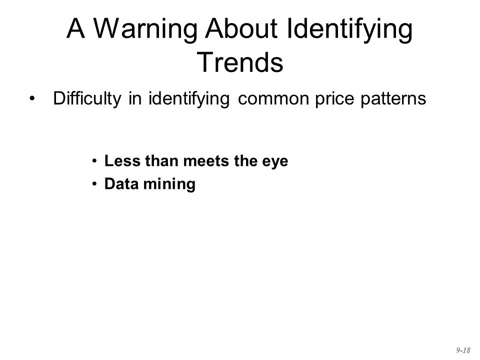 A Warning About Identifying Trends