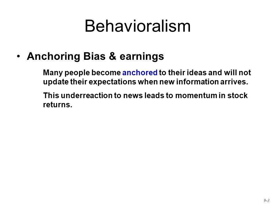 Behavioralism Anchoring Bias & earnings