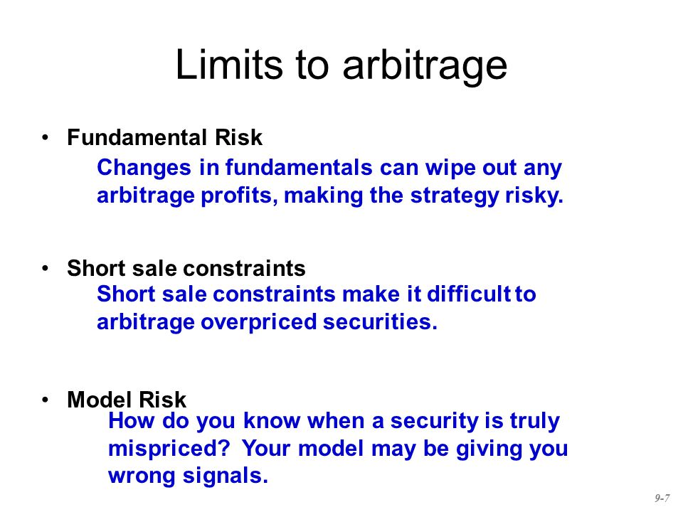 Limits to arbitrage Fundamental Risk
