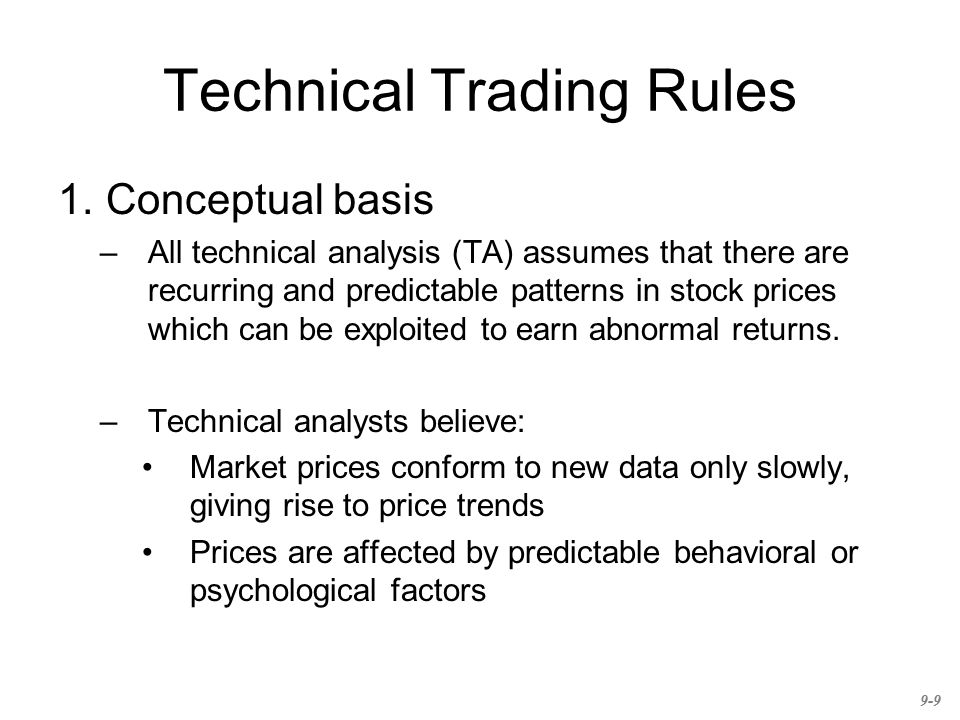 Technical Trading Rules