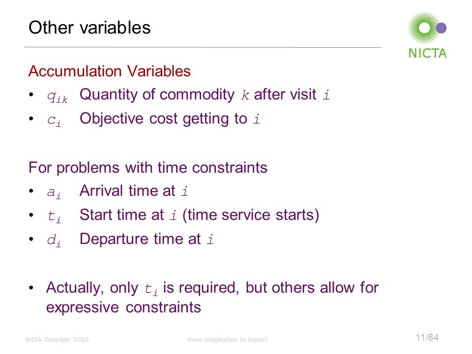 Other variables Accumulation Variables