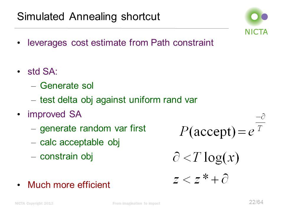 Simulated Annealing shortcut
