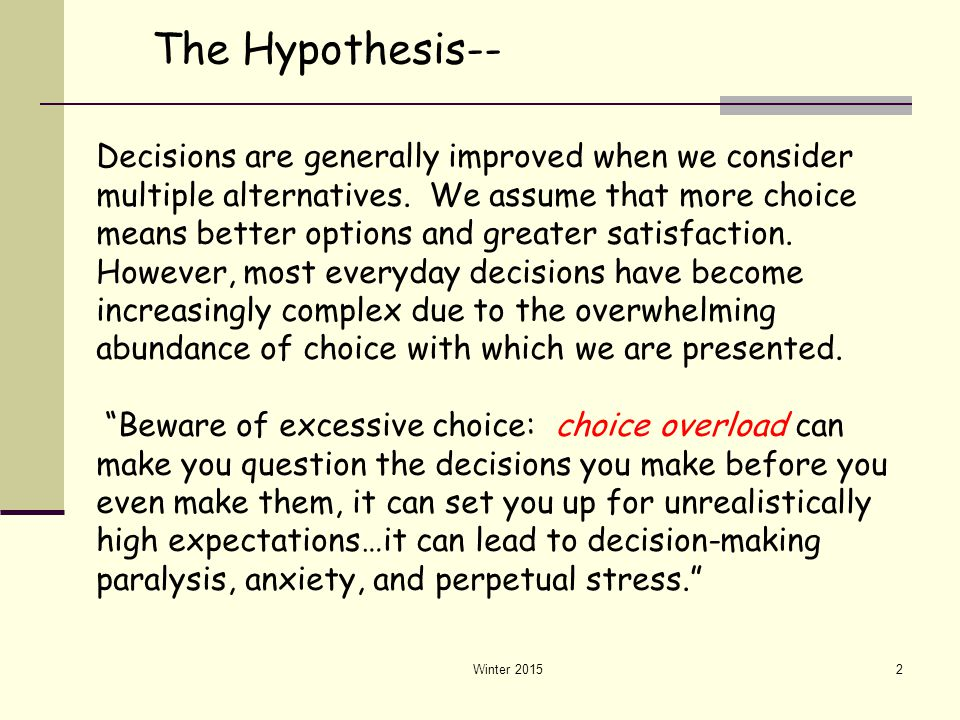 The Hypothesis--