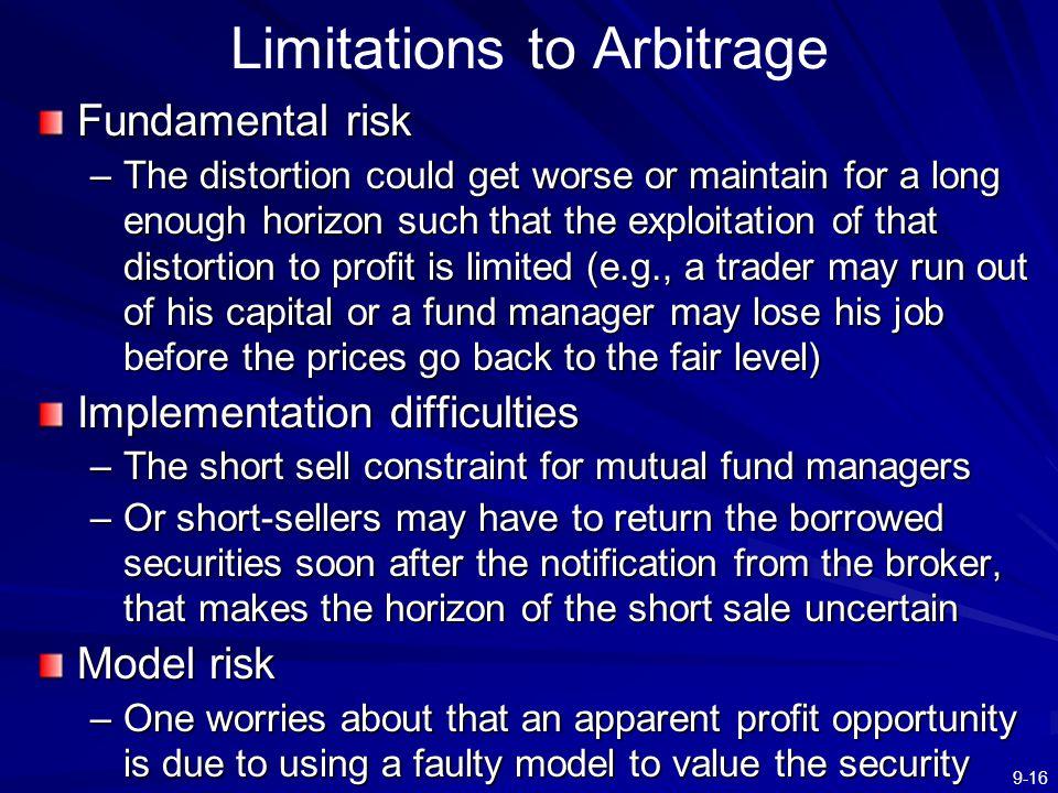Limitations to Arbitrage