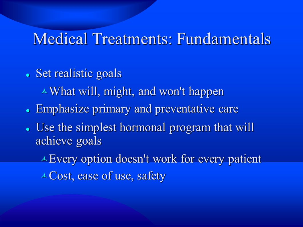 Medical Treatments: Fundamentals