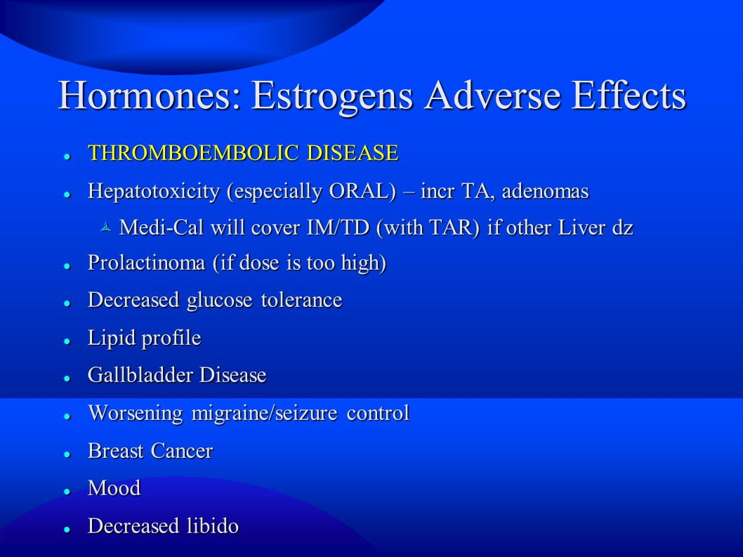 Hormones: Estrogens Adverse Effects