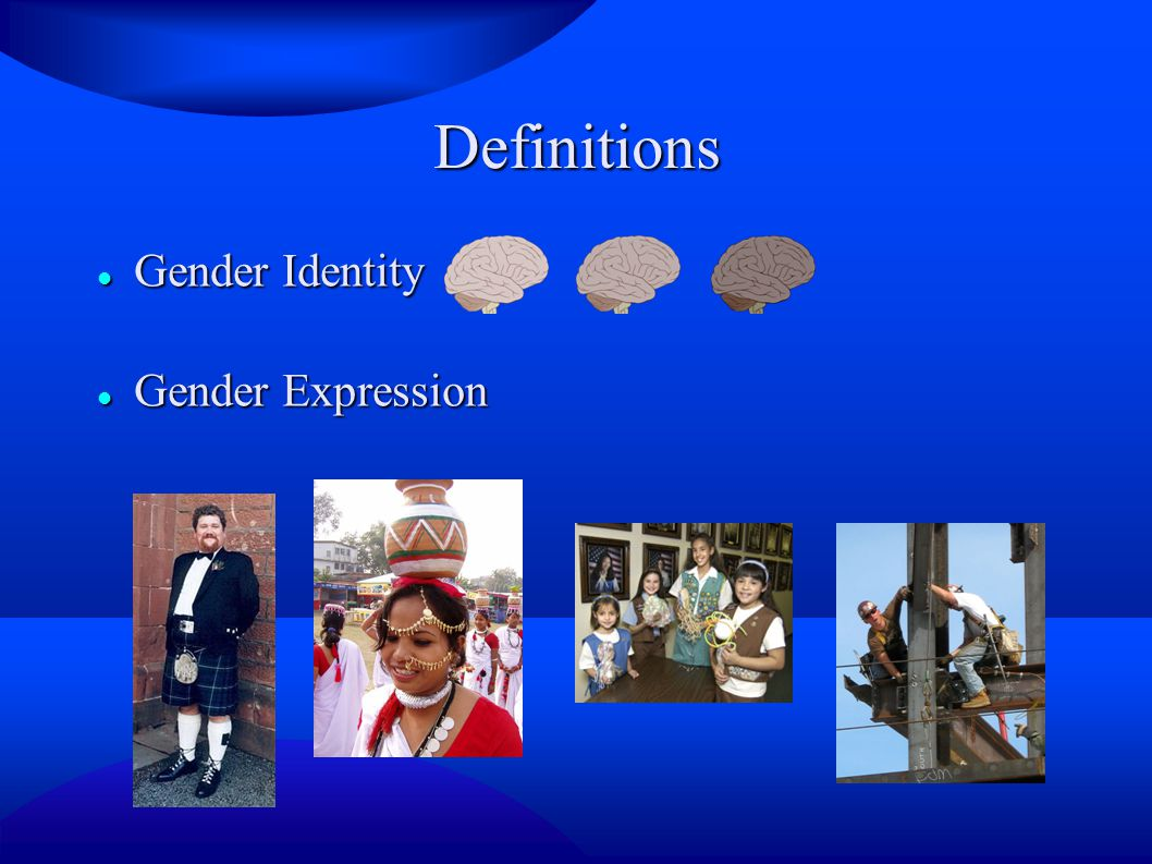 Definitions Gender Identity Gender Expression