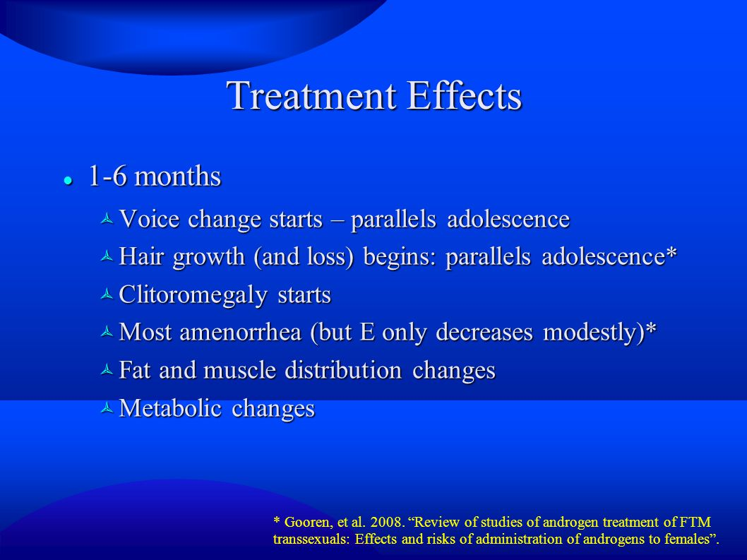 Treatment Effects 1-6 months