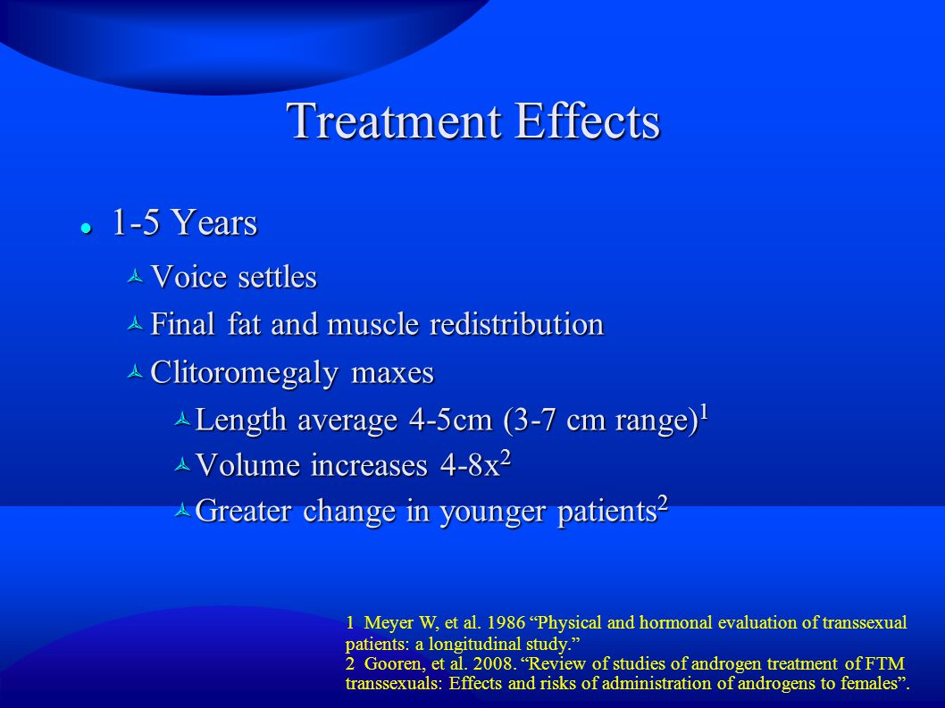 Treatment Effects 1-5 Years Voice settles