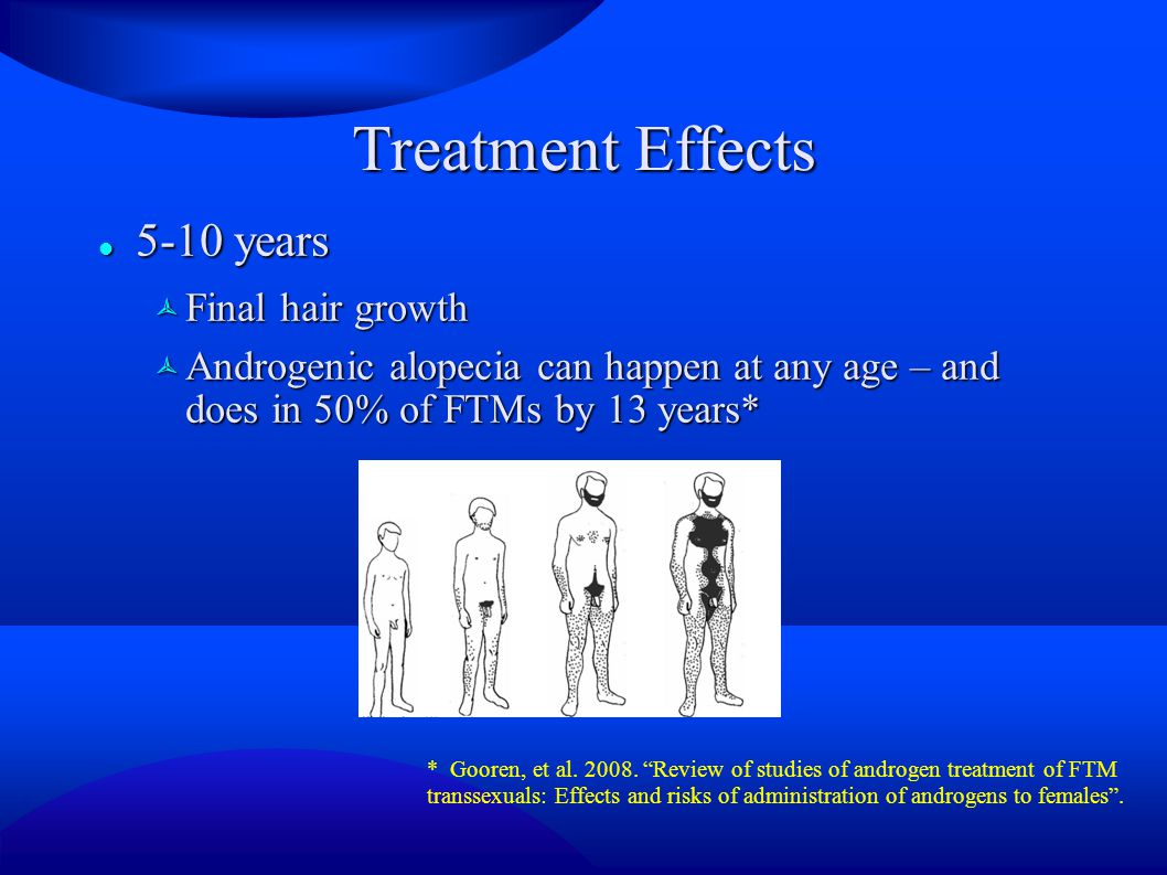 Treatment Effects 5-10 years Final hair growth