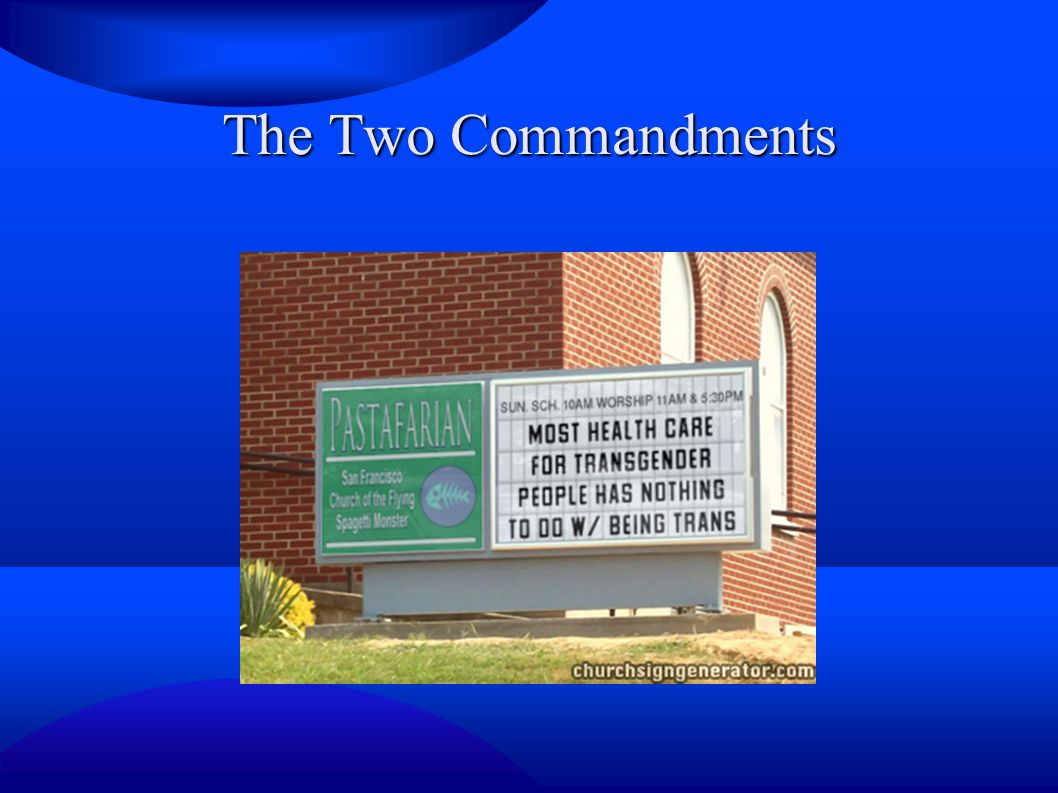 The Two Commandments