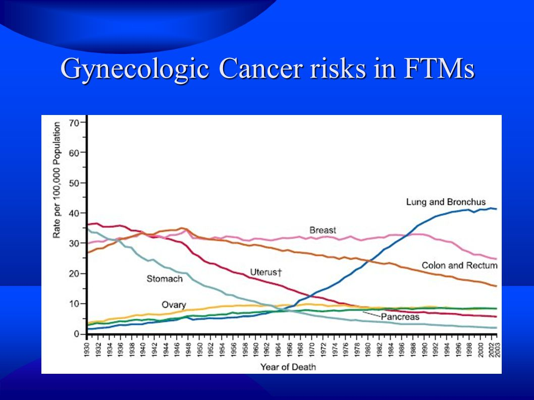 Gynecologic Cancer risks in FTMs
