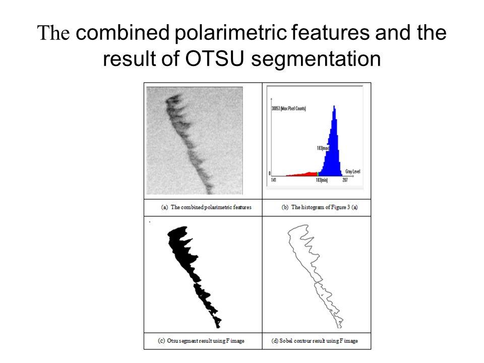 The combined polarimetric features and the result of OTSU segmentation
