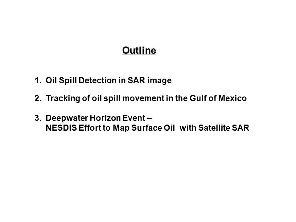 Outline Oil Spill Detection in SAR image