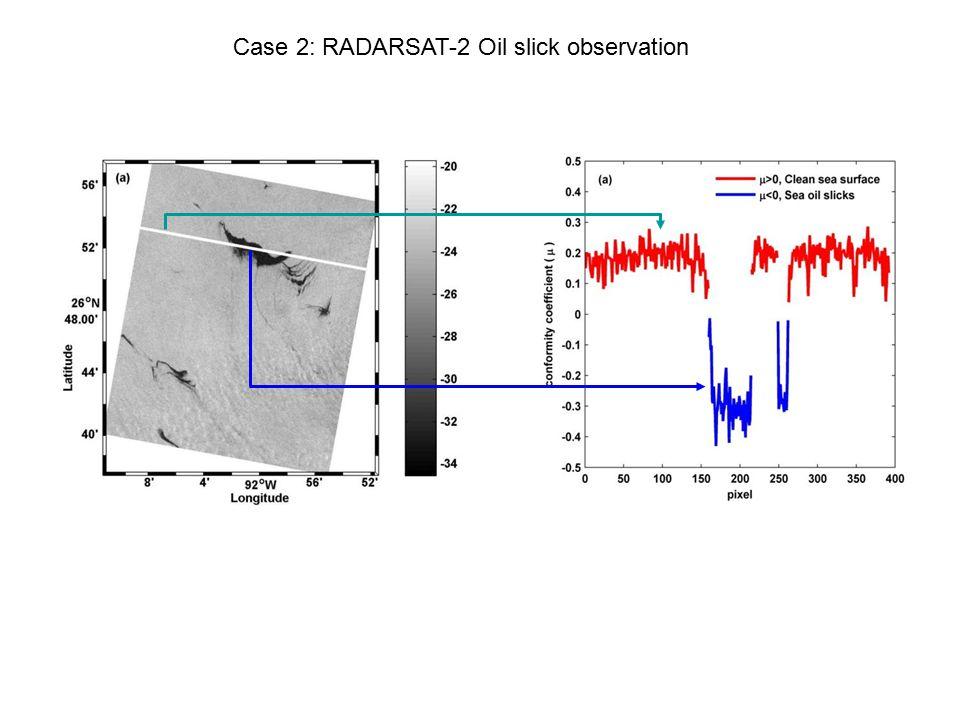 Case 2: RADARSAT-2 Oil slick observation