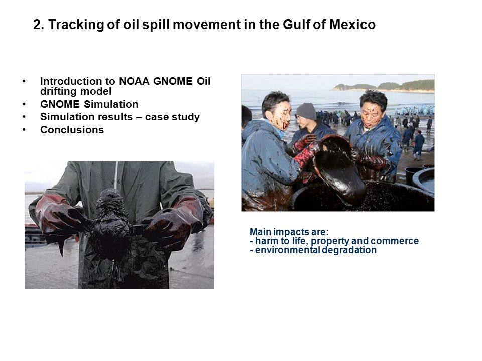 2. Tracking of oil spill movement in the Gulf of Mexico
