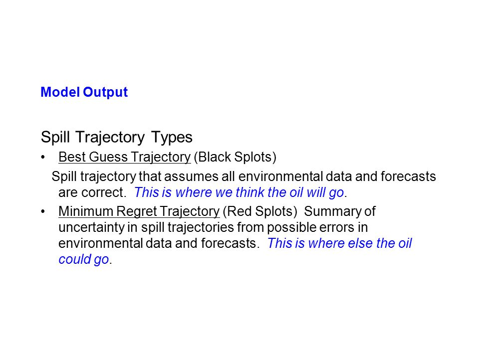 Spill Trajectory Types