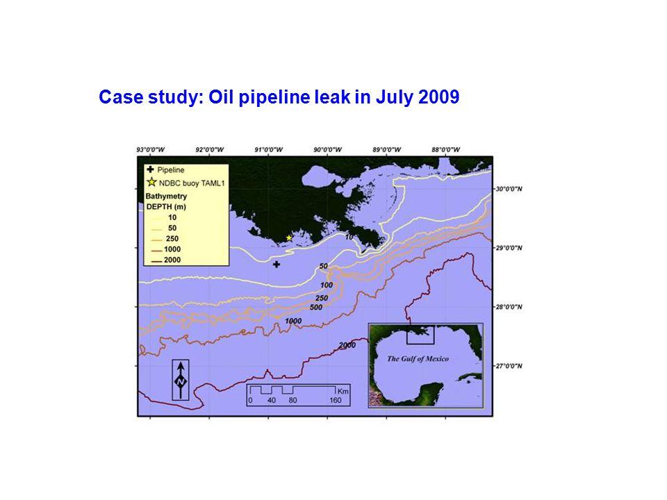 Case study: Oil pipeline leak in July 2009