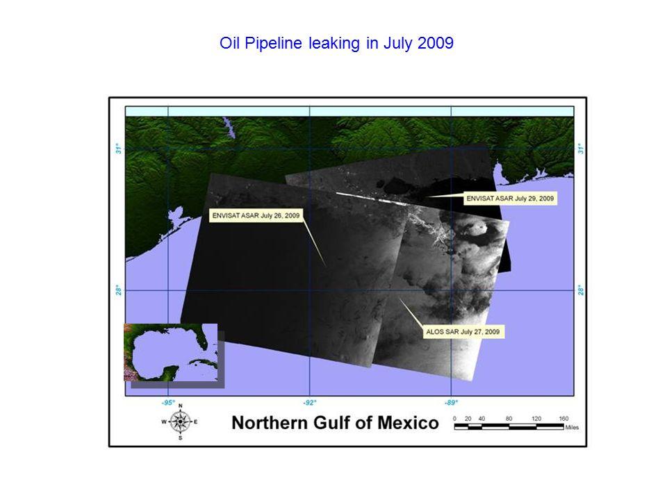 Oil Pipeline leaking in July 2009