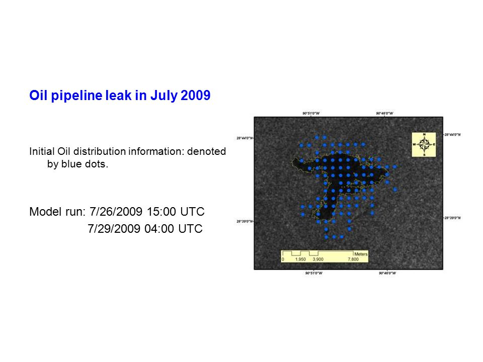 Oil pipeline leak in July 2009