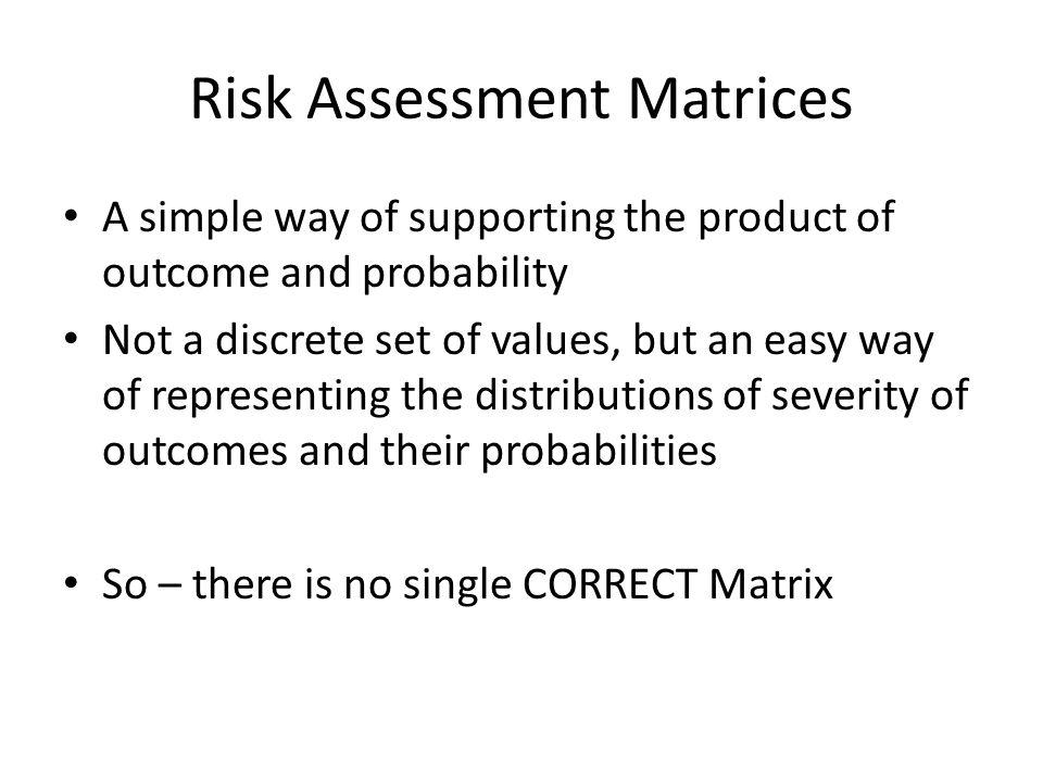 Risk Assessment Matrices