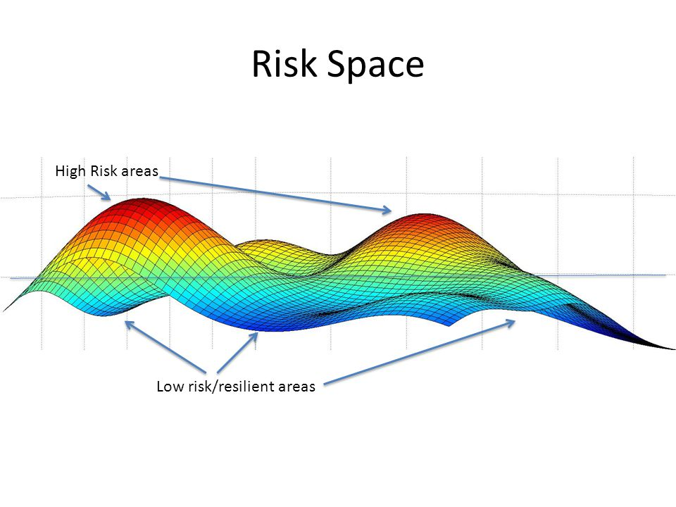 Risk Space High Risk areas Low risk/resilient areas