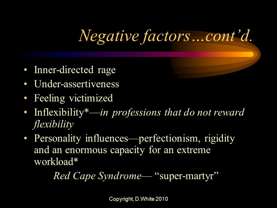 Negative factors…cont'd.