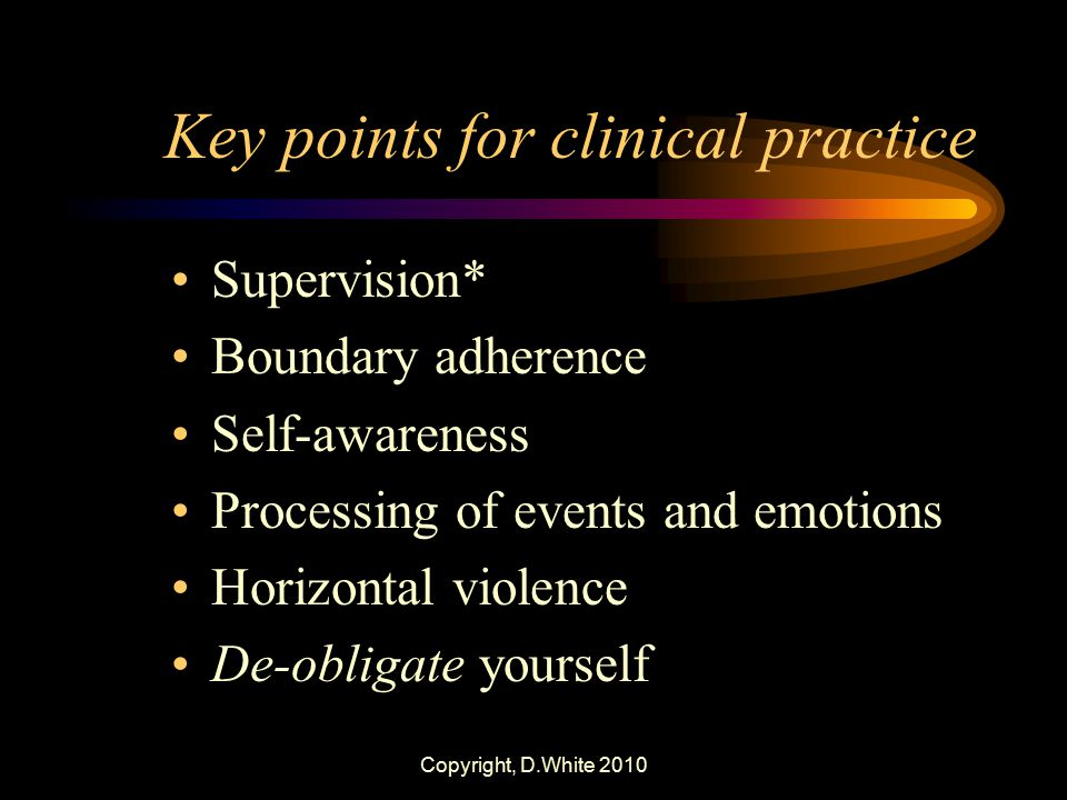 Key points for clinical practice