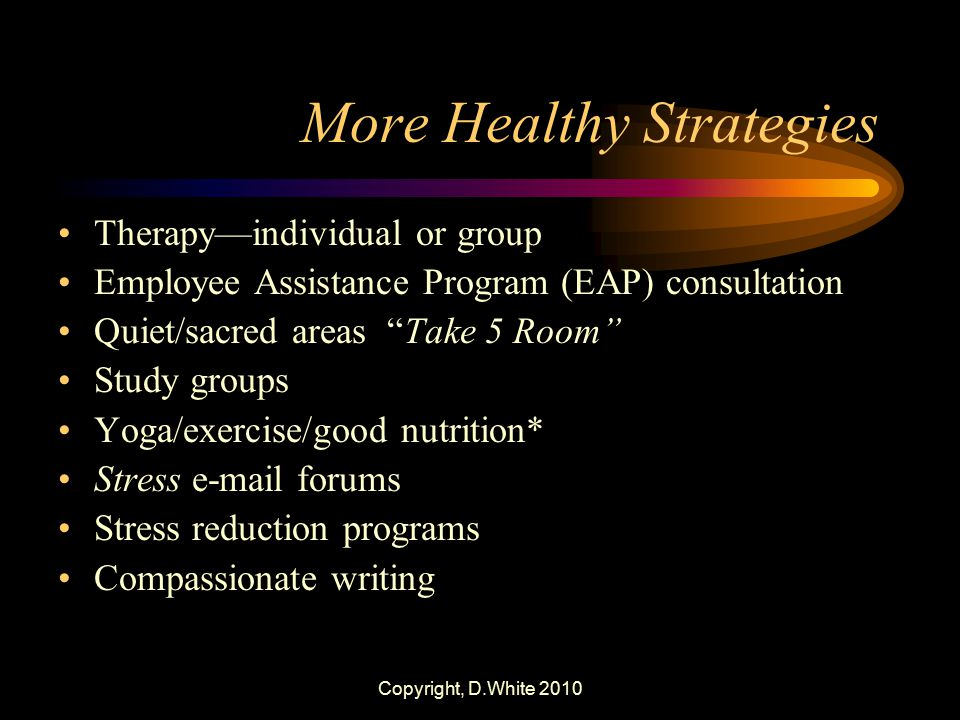 More Healthy Strategies