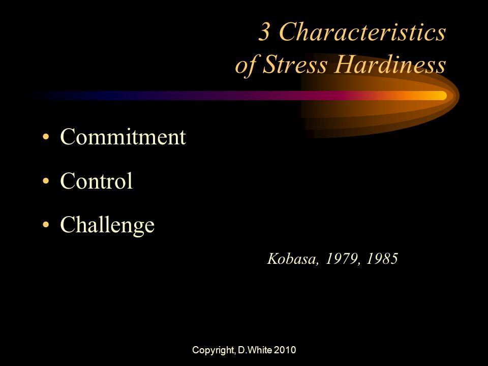 3 Characteristics of Stress Hardiness