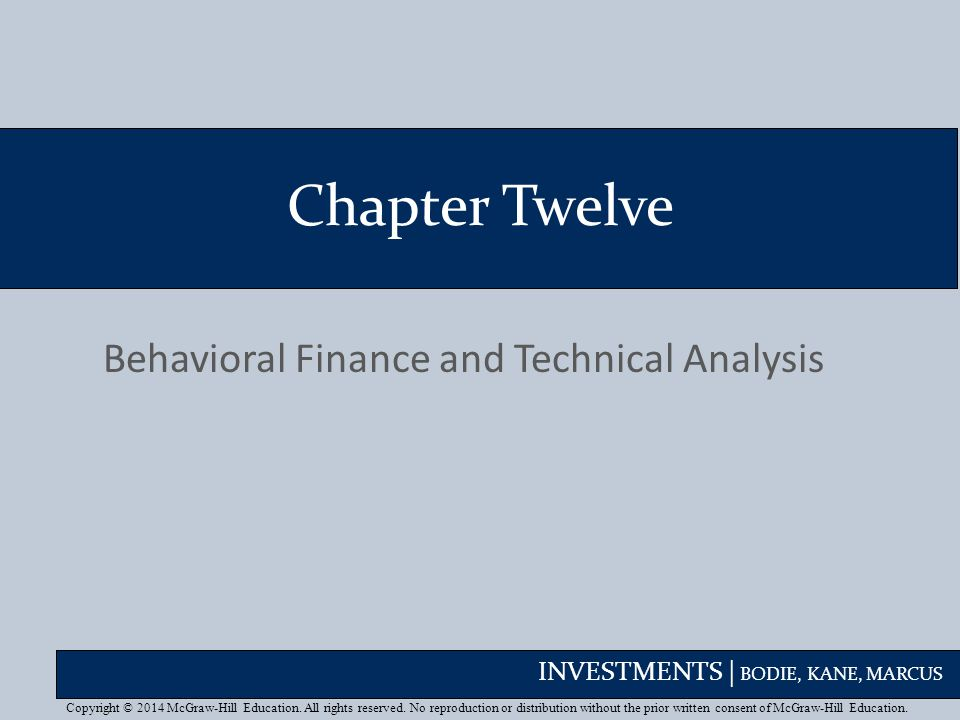 Behavioral Finance and Technical Analysis