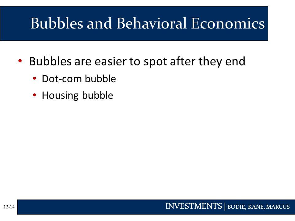 Bubbles and Behavioral Economics