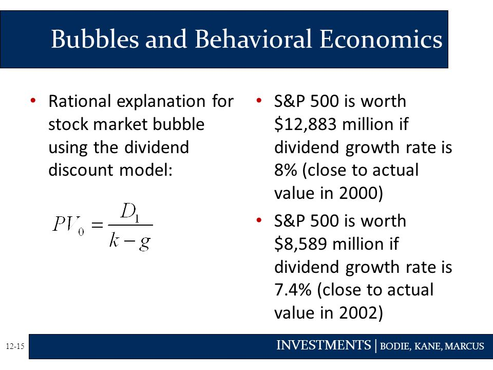 Bubbles and Behavioral Economics