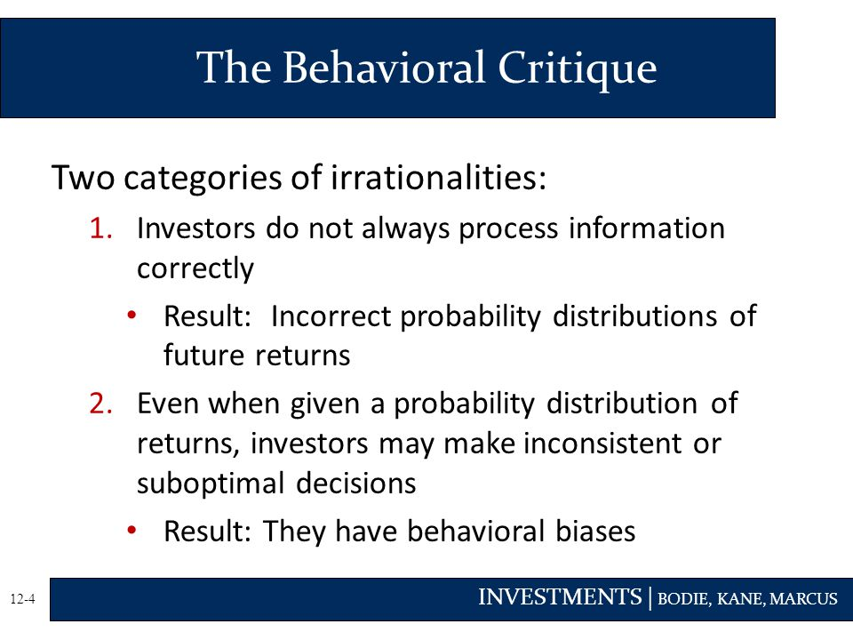 The Behavioral Critique