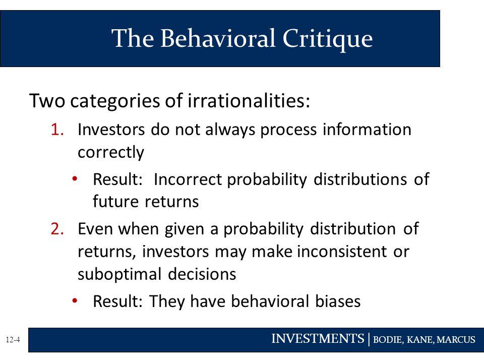 The Behavioral Critique