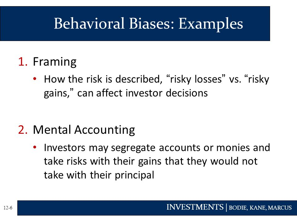 Behavioral Biases: Examples
