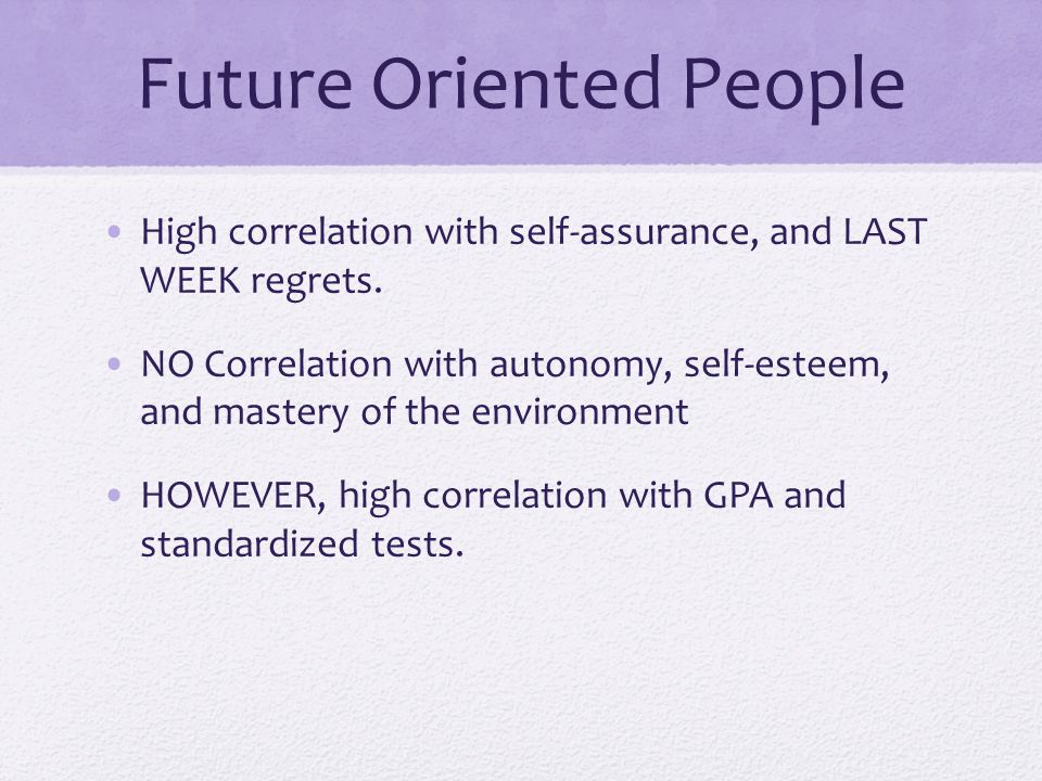 Future Oriented People