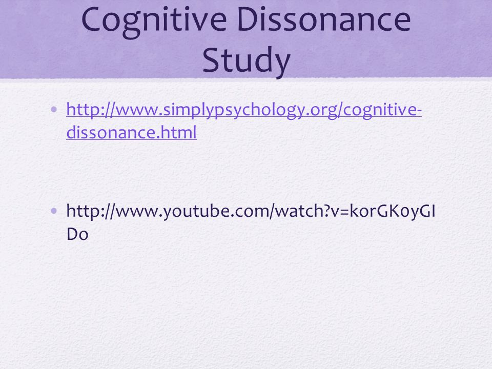 Cognitive Dissonance Study