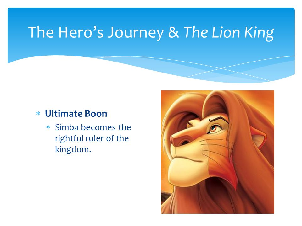 The Hero's Journey & The Lion King