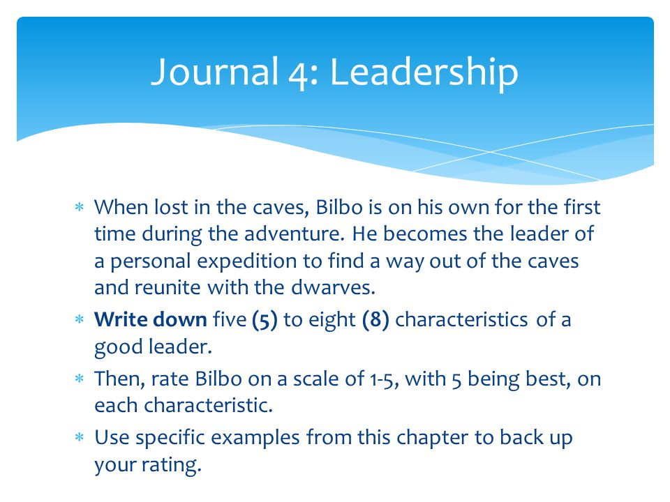 Journal 4: Leadership