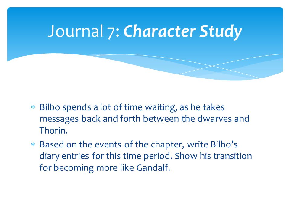 Journal 7: Character Study