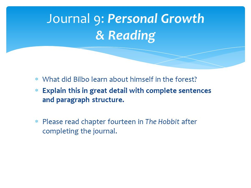 Journal 9: Personal Growth & Reading