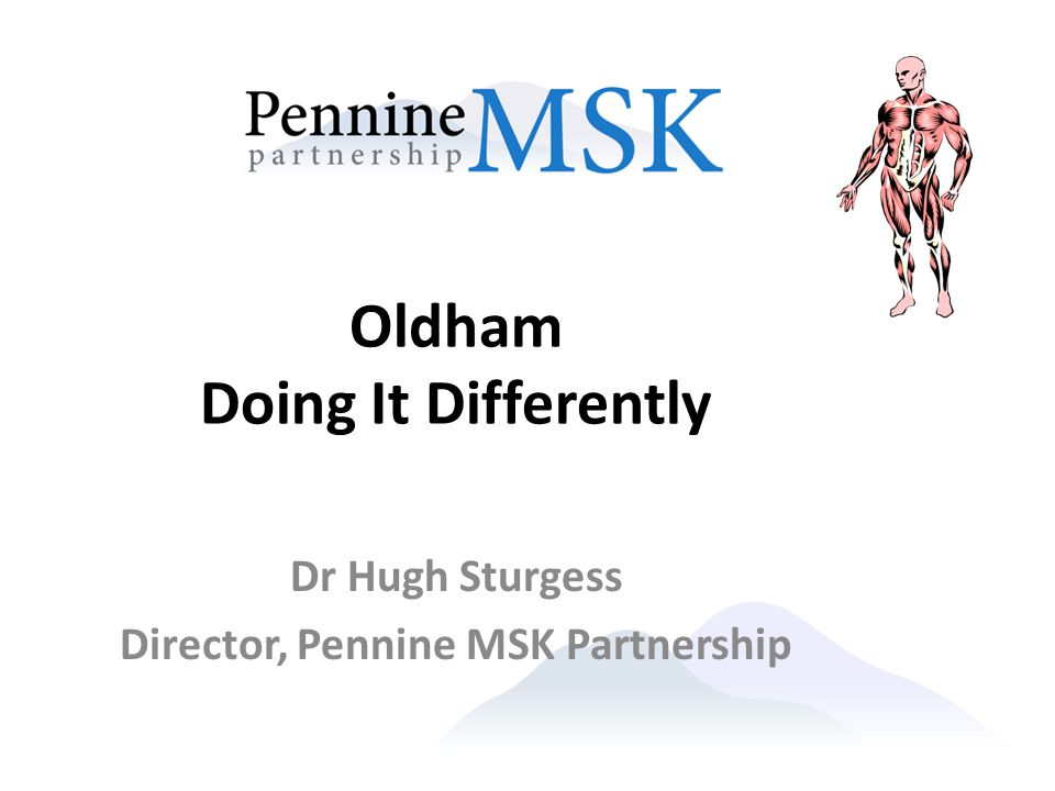 Oldham Doing It Differently