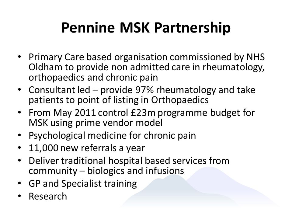 Pennine MSK Partnership