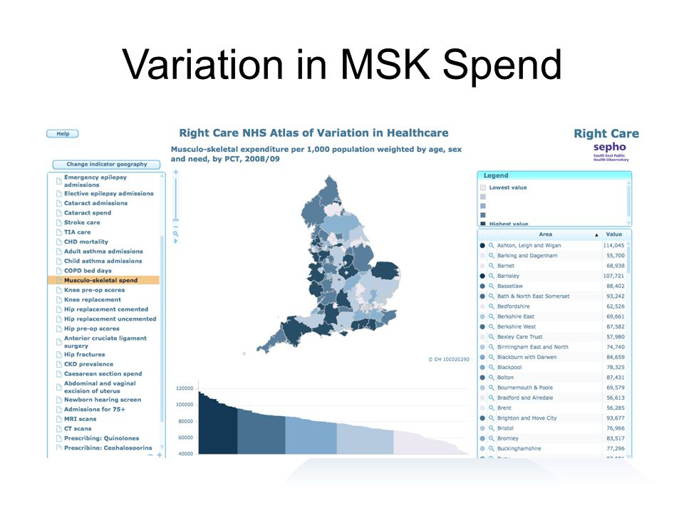Variation in MSK Spend