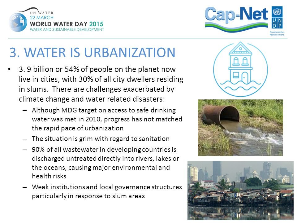 3. WATER IS URBANIZATION