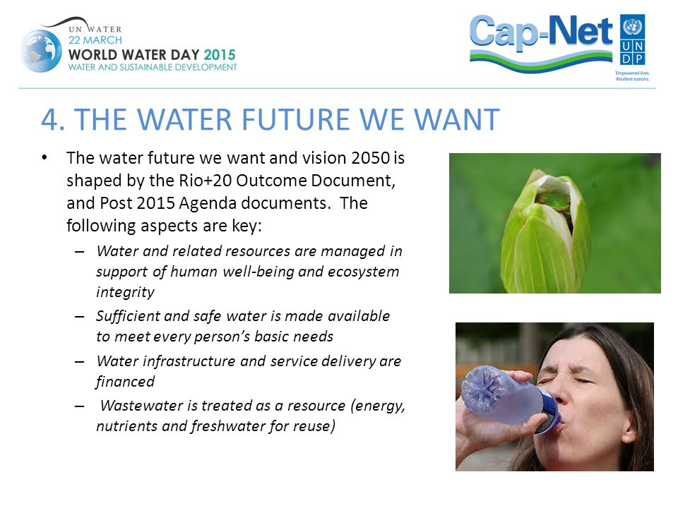 4. THE WATER FUTURE WE WANT